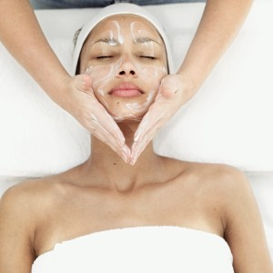 Woman Getting Facial Treatment --- Image by © Royalty-Free/Corbis